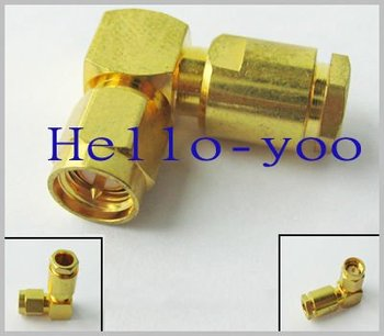 SMA male plug right angle clamp connector for LMR240 RG59 LMR300