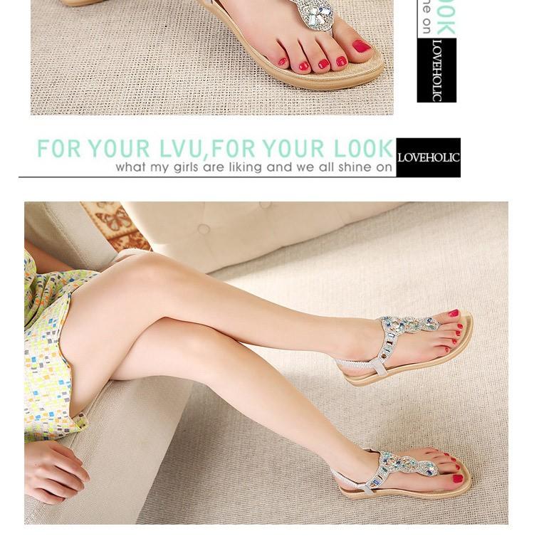 2016 Fashion Summer women flat sandals Ladies Summer Bohemia Beach Flip Flops Shoes Casual Shoes Beach slippers 383-3