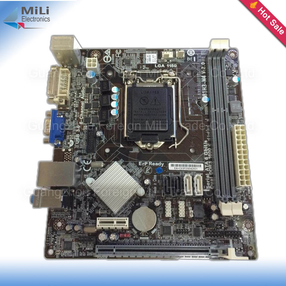 For ECS H81H3-M4 Original Used Desktop Motherboard For Intel LGA 1150 DDR3 17X19cm For i3 i5 i7 E3-1230v3 CPU On Sale<br><br>Aliexpress