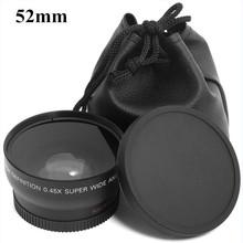 Buy 0.45x 52mm 52 Fisheye Wide Angle Macro Conversion Wide-Angle Lens Bag 62mm Cap Nikon D5000 D5100 D3100 D7000 D3200 D90 1pcs for $19.78 in AliExpress store