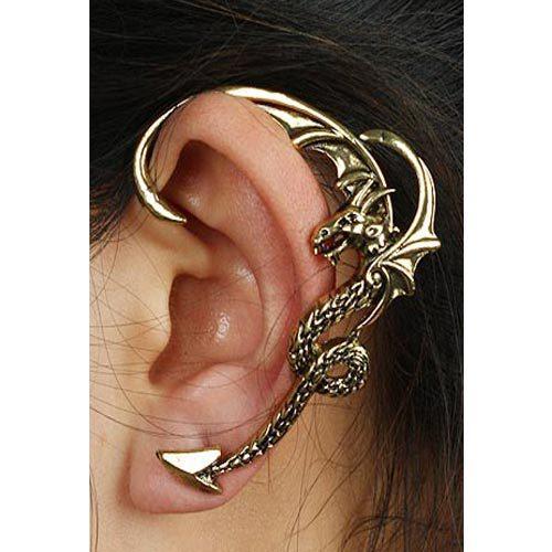 Dragon Retro Ear Clip Punk Cool Earrings Hanging Fashion Cuff - Lincy store