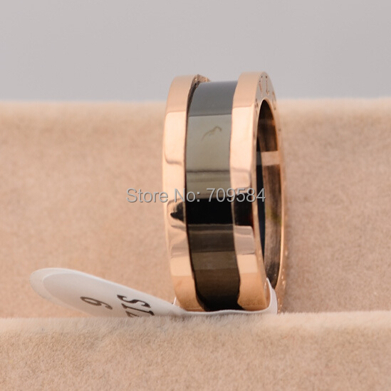Promotional offers rose gold ring ceramic ring(China (Mainland))