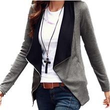 2016 autunno inverno stile coreano manica lunga slim turn down collare cerniera laterale cappotto donne giacca cardigan casaco feminino(China (Mainland))
