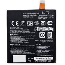 Original Mobile Phone Li-ion Battery BL-T9 For LG Google Nexus 5 D820 D821 Nexus5 T9 Without Retail Package(China (Mainland))