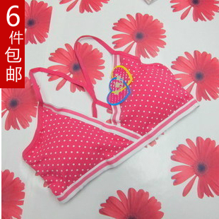 Dot pure cotton young girl underwear student bra wireless small vest behind intertube  -  Online Store 617510 store