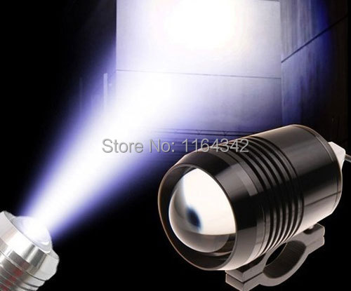 Black LED External Waterproof Laser Cannon fit DC/AC 12V-60V Car Motorcycle Electric Car headlights Styling Free shipping(China (Mainland))