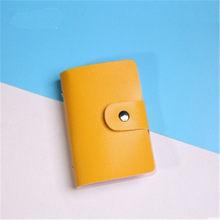 Nuevo estilo PU cuero 24 tarjetas de identificación tarjeta bancaria tarjeta de crédito de negocios multifunción cubierta cartera bolsas 3020(China)