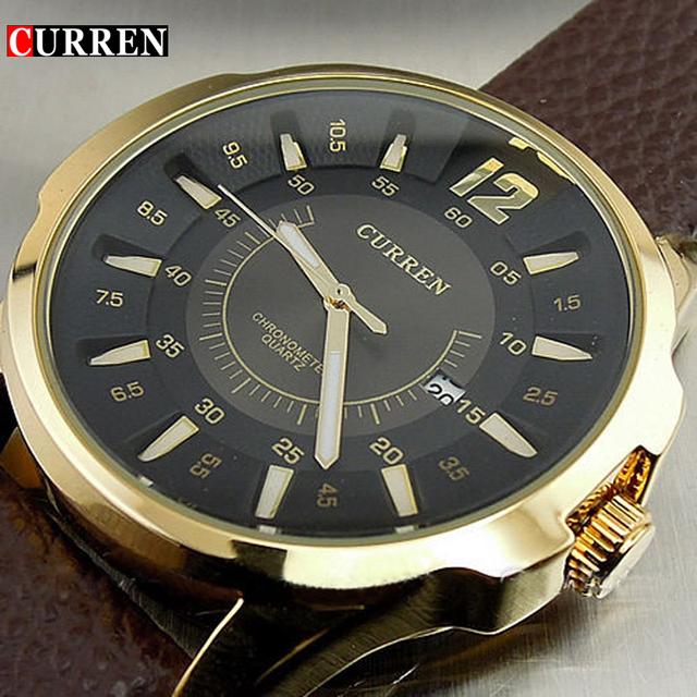Новинка люксовый бренд мужской часы дата коричневый кожаный ремешок человек деловой свободного покроя наручные часы RELOJ водонепроницаемый женский