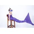 Kids Yarn Knitted Mermaid Tail Cotton Blanket Handmade Crochet Mermaid Blanket For Children Adult Bed Wrap