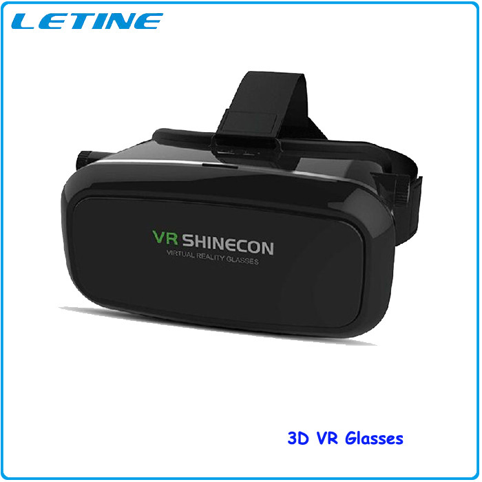 2016 Google Cardboard VR Shinecon Virtual Reality Headset 3D Glasses DVD Movies For iphone Samsung 4.0-6.0 Inch Smartphone