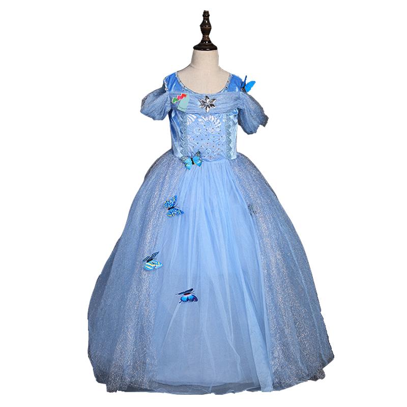 Girls Cinderella font b dress b font 2016 arrival baby font b dresses b font European