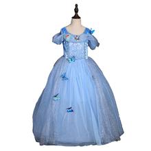 Meninas vestidos de Cinderela vestido 2016 da chegada do bebê meninas moda Europeus e Americanos vestido de festa da princesa vestido de meninas roupas