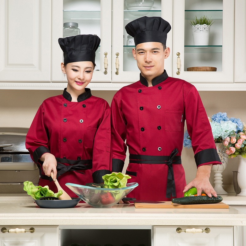 Women Chef Uniform Chef Uniform Top Fashion Hot Sale Polyester Men Accessories Broadcloth 2016 Hotel Qiu Dong Outfit(China (Mainland))