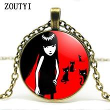 2018/an nouvelle offre spéciale fait à la main Emily strange Colar Longo collier gothique Emo collier pas cher.(China)