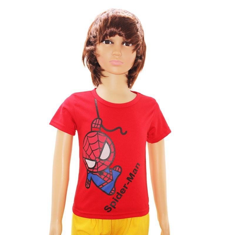Boys girls t shirt cartoon Spiderman clothes minion costume children s clothing t shirts kids wear