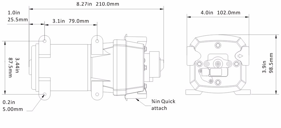 Purchase SEAFLO 24V Water Pressure Diaphragm Pump 2.7 GPM
