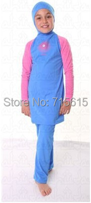 New islamic clothing, muslim swimsuits , modest swimsuits for kids(China (Mainland))