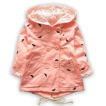 Весна Осень Детские Пальто И Пиджаки детская Куртки Одежда Каско Младенцы Верхняя Одежда Девушки Кардиган С Капюшоном Пальто(China (Mainland))