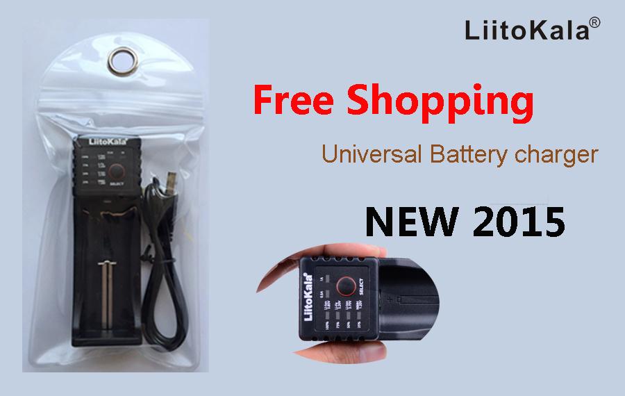 2015 liitokala lii-100 cargador para a 18650 26650 16340 18500 AA AAA NiMH cargador de bater, a lii100 5v1a Salida(China (Mainland))