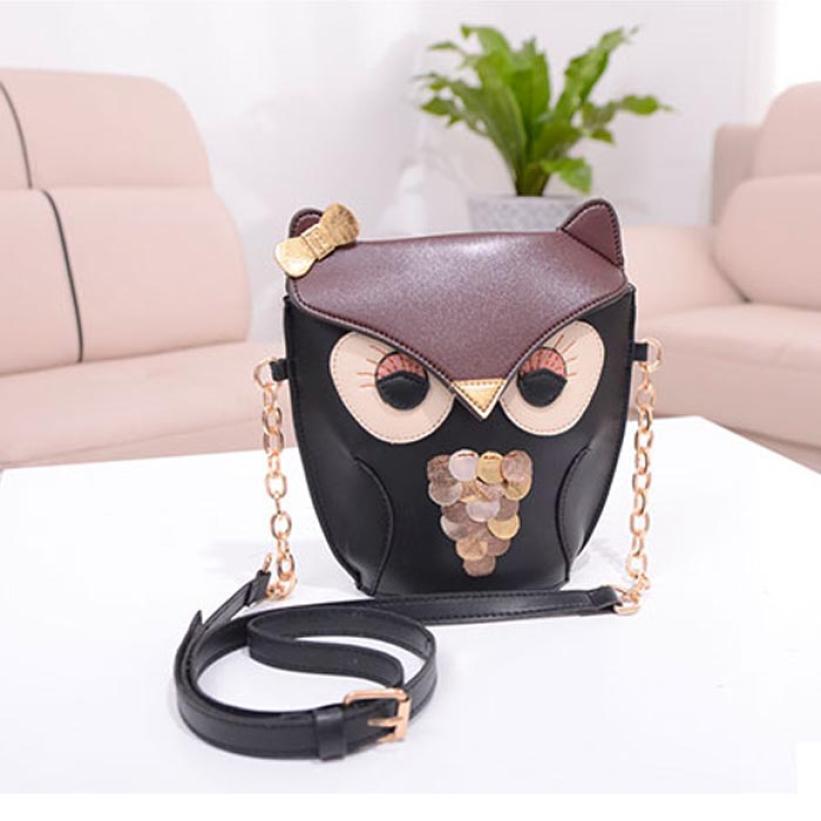 2015 Women Girl Small PU Leather Fox Pattern Satchel Messenger Shoulder Bag Cross Body Schoolbag Gift Fashion Women Bag(China (Mainland))