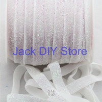 "10yards/lot 3/8"" Frosted  Glitter FOE Elastic DIY Headband Hair Accessories Free Shipping"