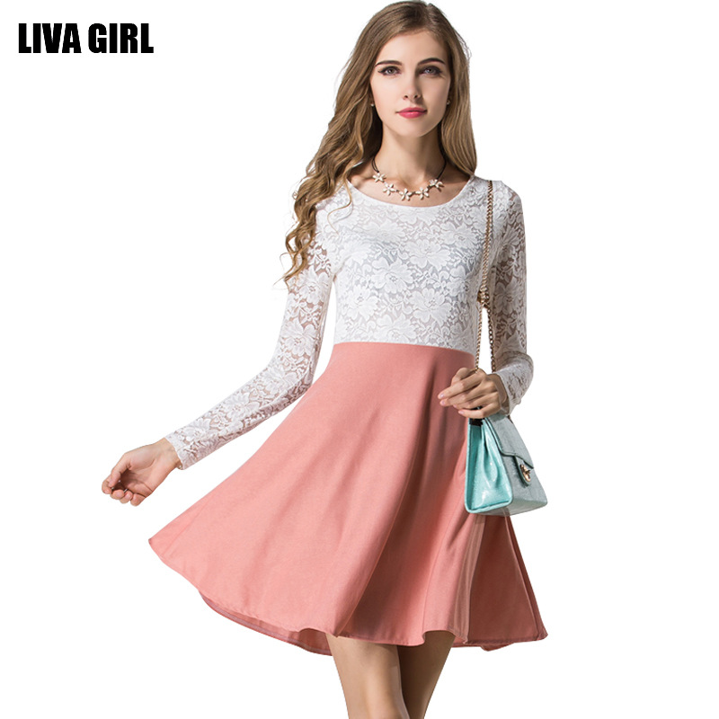 Vestidos Femininos Lace Women Dresses Autumn Long Sleeves Office Cocktail Dames Winter Sexy Ropa Mujer Vintage White 2016 Ly76(China (Mainland))