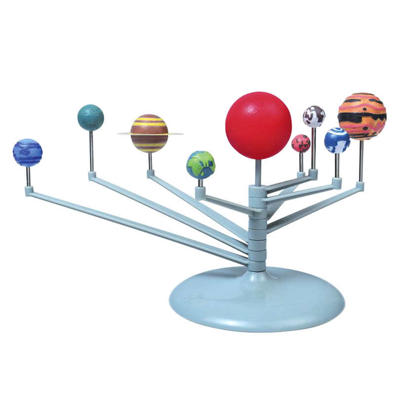 1Set Hot Sale Children Educational DIY Nine Planets in Solar System Planetarium Painting Science Teaching Learning Toys(China (Mainland))