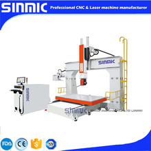 1224 5 aixs Moving table engraving 3D Three-dimensional sculpture cnc router for wood/foam/stone(China (Mainland))