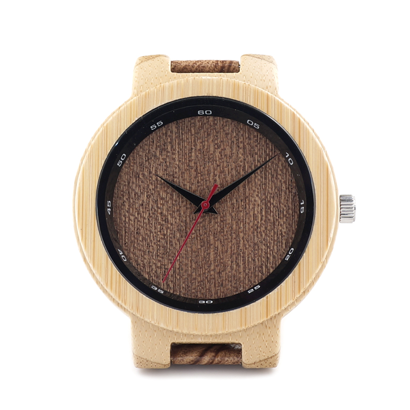 BOBO BIRD D16 Bamboo Wood Watch Men Wooden Grain Leather Band Scale Circle Japan Movement Quartz Watches for Men Gift Box(China (Mainland))
