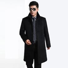 2015 Brand fashion wool coat cashmere coats mens Long trench coat jacket slim outerwear coats men dropship(China (Mainland))