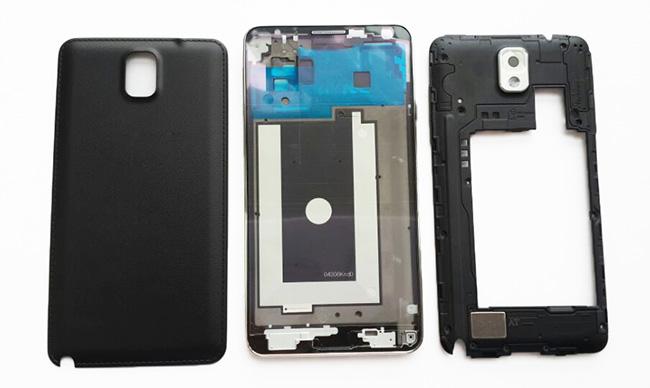 Original mobile phone shell For Samsung Note 3 n9000 n9005 full housing battery door back case + middle frame + front plate