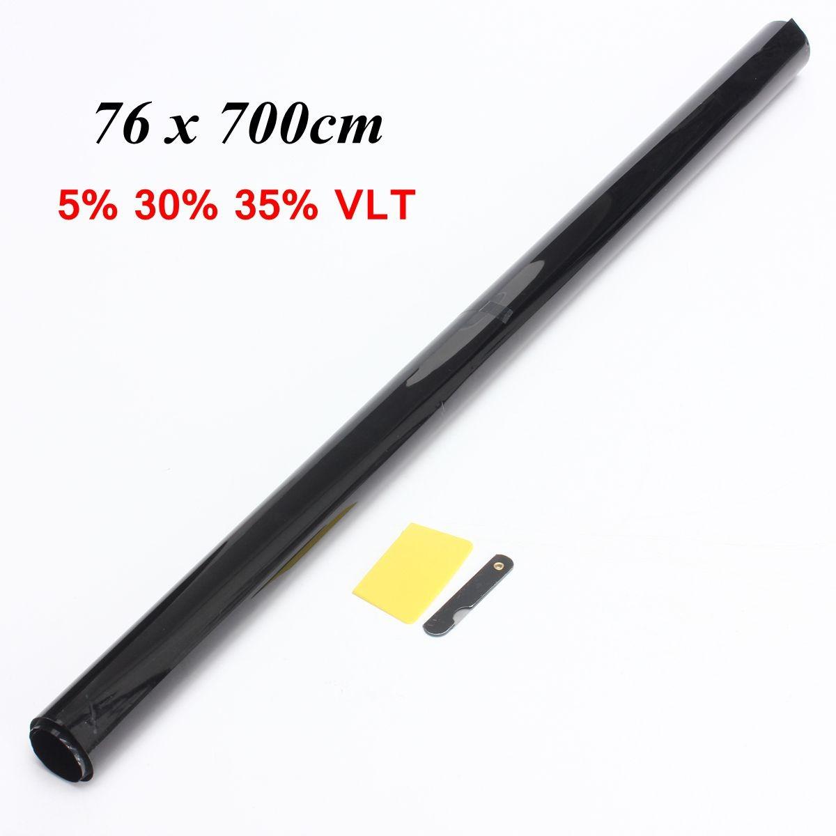 76 x 700cm 5% 30% 35% VLT Solar Protect Black Smoke Car Auto Van Home Glass Windows Tint Film Tinting(China (Mainland))
