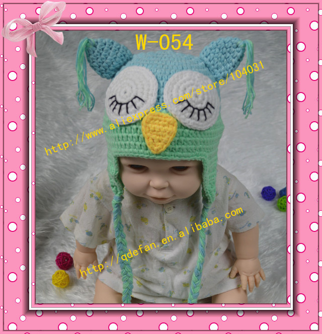 Free shipping 2013 new handmade cute crochet baby owl winter hats newborn knit animal kids children beanies with ears for boys(China (Mainland))