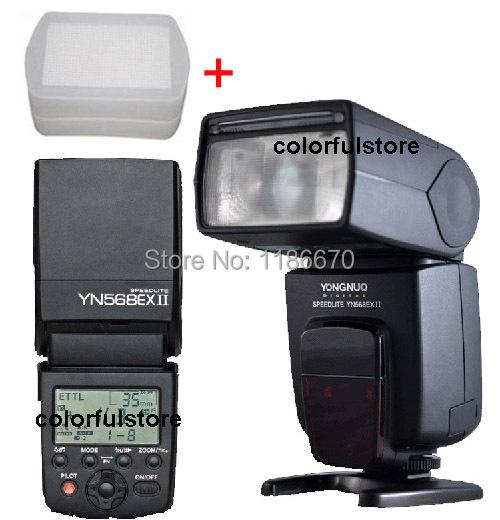 Здесь можно купить  Free Ship by DHL YN-568EX II YN568EXII YN568EX YN568 568 EX  Wireless TTL Master 1/8000s Flash Speedlite For Canon SLR+ Diffuser  Бытовая электроника