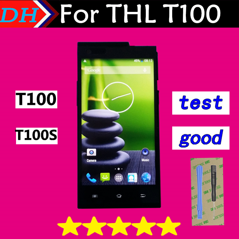 THL T100s T100 Original New Touch Screen Digitizer Glass Lens Assembly and LCD Display for THL T100S T100 Cellphone 5.0 inch