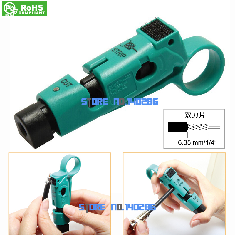 CP-507 Coaxial Cable Wire stripper Fast Wire stripper Stripping knife RG59 RG6(China (Mainland))