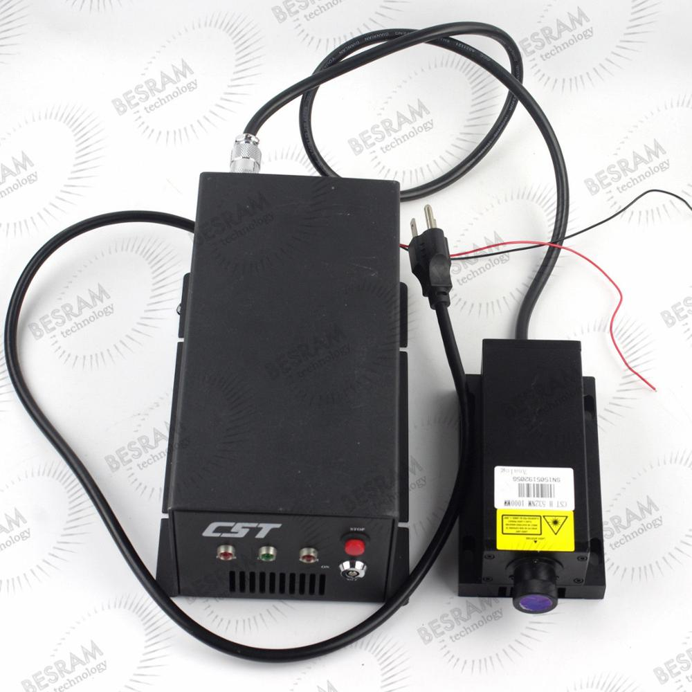 Stage Lighting 3W 532nm Green DPSS Solid Stated Laser Module TTL/Analog(China (Mainland))