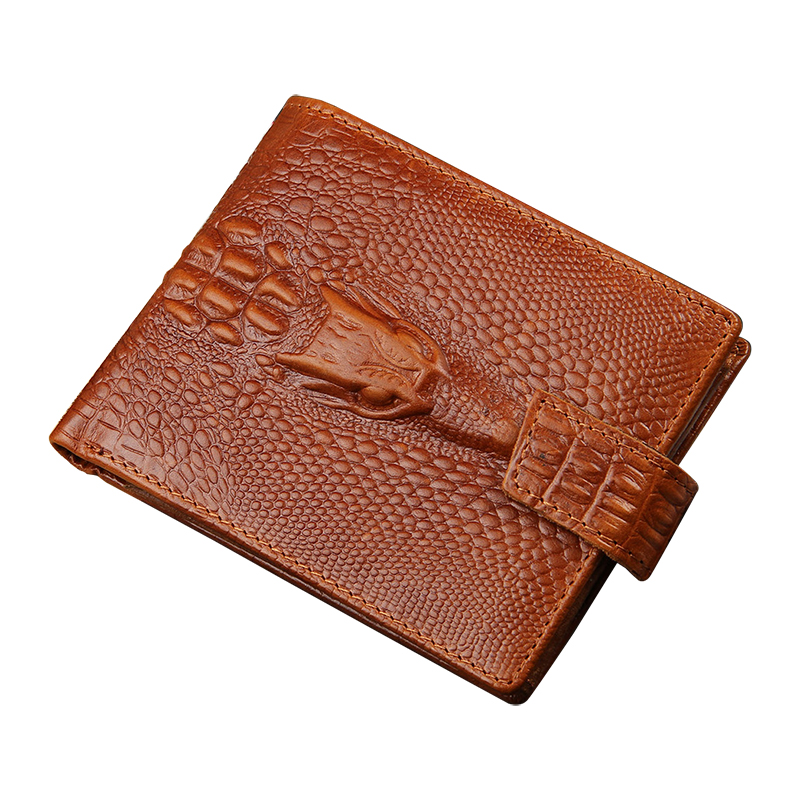 Purse Crocodile Style leather Wallet TOP Quality Fashion Brand Wallets with Coin Pocket Credit Card Holders Hidden Zipper Pocket(China (Mainland))