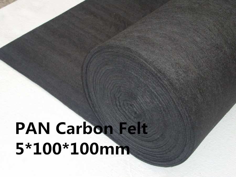 Soft Carbon Graphite Felt PAN-based SCF5100100 ,carbon fiber felt pad for Vacuum furnaces(China (Mainland))