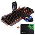 Wired LED Backlit Multimedia Ergonomic Usb Gaming Keyboard Mouse Combo illuminated 2000DPI Optical Gamer Mouse Sets