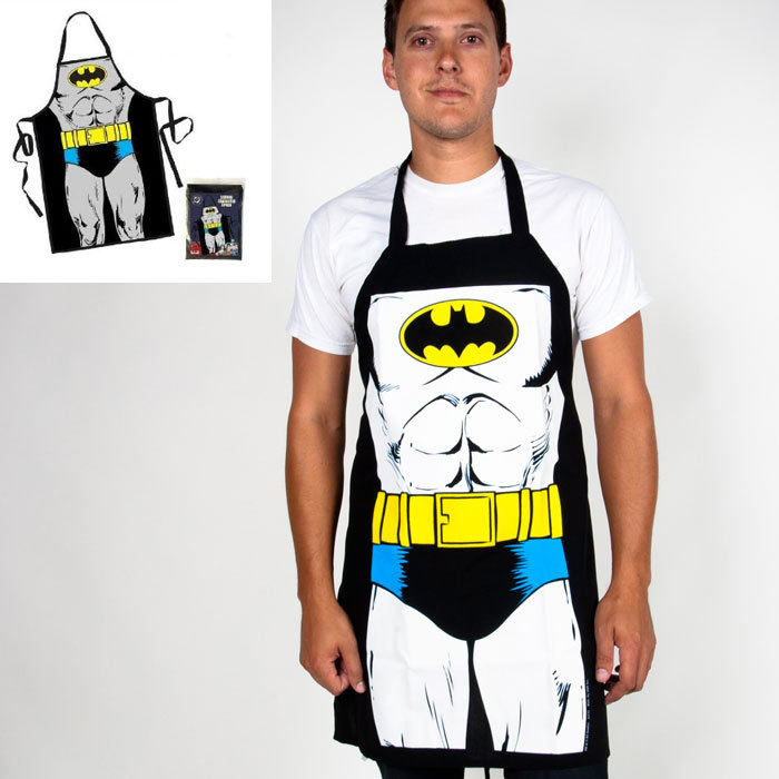 E Free Shipping Chef Jacket Apron Batman Apron Personality Fun Skirt Creative Funny Home Supplies Gifts Chef Uniform(China (Mainland))