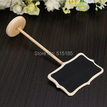 Wedding Party Christmas Decorations Mini blackboard chalkboards stand creative wooden table number (China (Mainland))