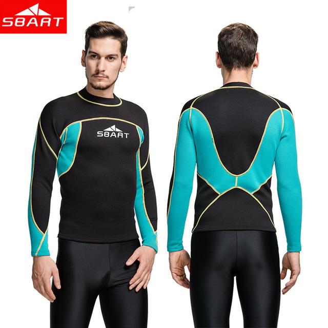SBART 2MM Wetsuit Shirt Mens Neoprene T Shirts Surfing Wetsuits Top Men Diving Swimming T-shirt Surf Long Sleeve Rashguard(China (Mainland))