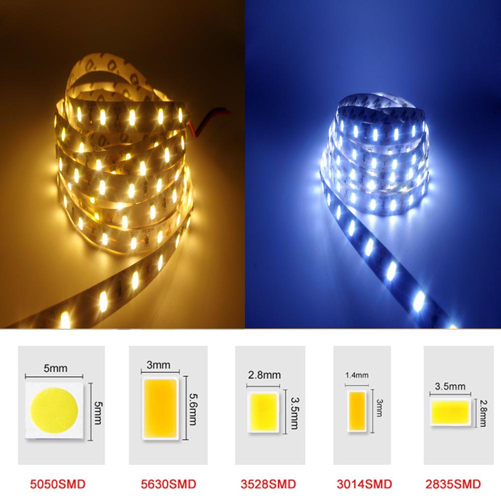 DC12V RGB LED Strip Light SMD5050 5630 3528 3014 2835 Fita Led string Ribbon tape Bar Neon New Year Christmas Decoration Lampada(China (Mainland))