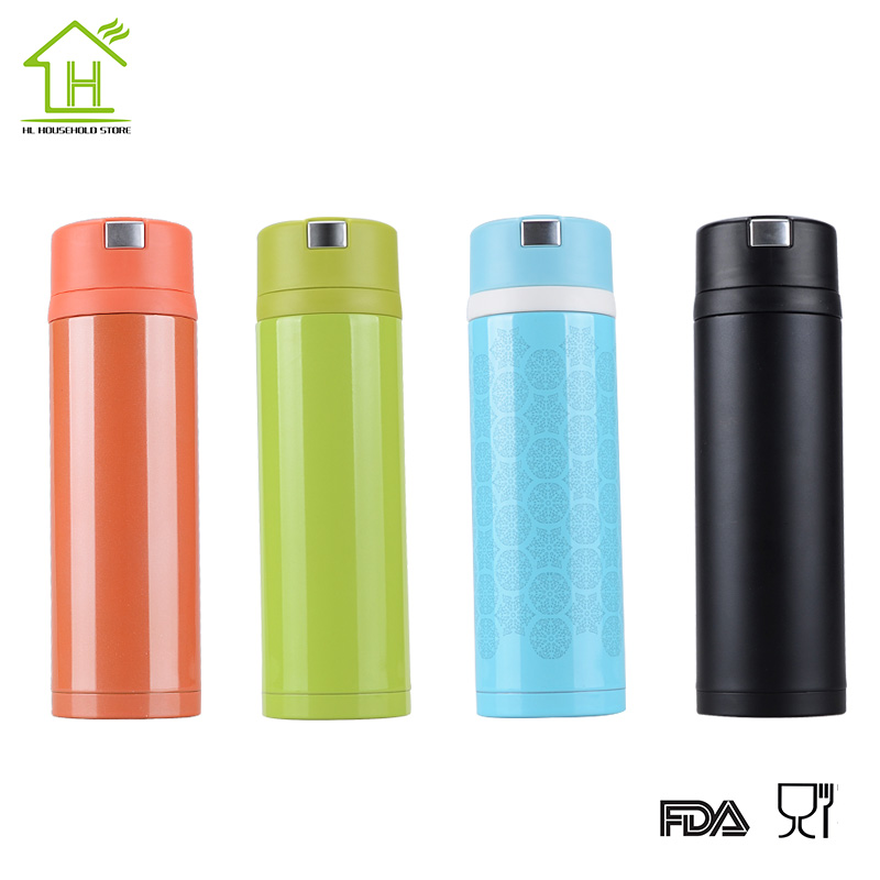 Fashion stainless steel small thermos Vacuum Thermo flask termica infantil bottle mug mini hot cold water garrafa 450ml(China (Mainland))
