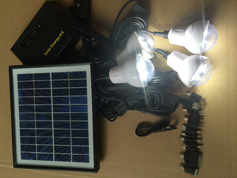 portable rechargeable 4w solar home kit , 4 x 0.9W LED Light(China (Mainland))