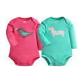Spring Winter Baby  Bodysuits For Baby Girls Cotton Clothes (4PC) Long Sleeves Warm Clothes For kids Babies Ropa