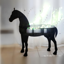 "J&E High-end series ""L"" size horse desk horse coffee table wooden home furniture FSC-certified(China (Mainland))"
