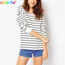 Women Blouses 2016 New Arrival Spring Sexy O-Neck Striped Casual Long Sleeve Elegant Ladies Fashion Female Tops Plus Size BL010(China (Mainland))