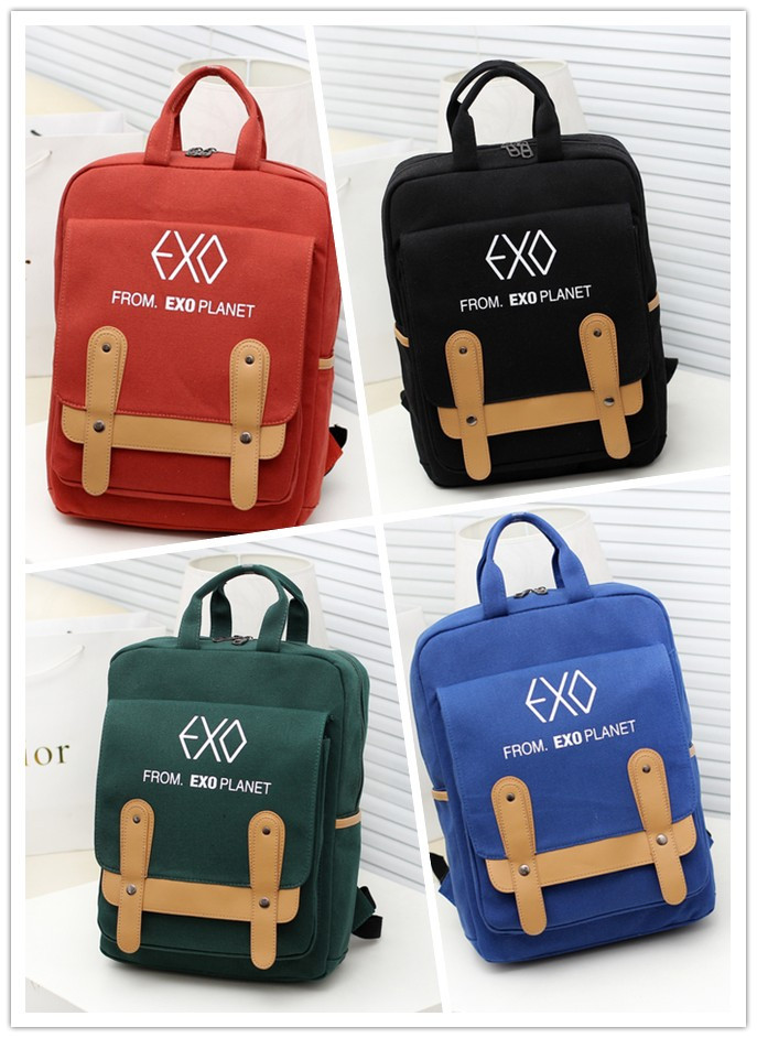Chanyeol New Kpop EXO PLANET #2 PU Schoolbag Korea Backpack